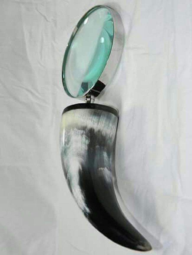 Large Silver Magnifying Glass
