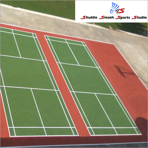 Outdoor Double Badminton Court Flooring