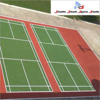 Outdoor Double Badminton Court Flooring