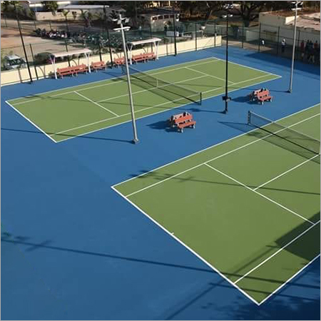 Double Tennis Court Flooring