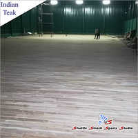 Indian Teak Sports Court Wooden Flooring
