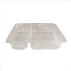 2 Compartment Disposable Meal Tray