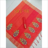 Beautiful Flower Embroidery Work Saree