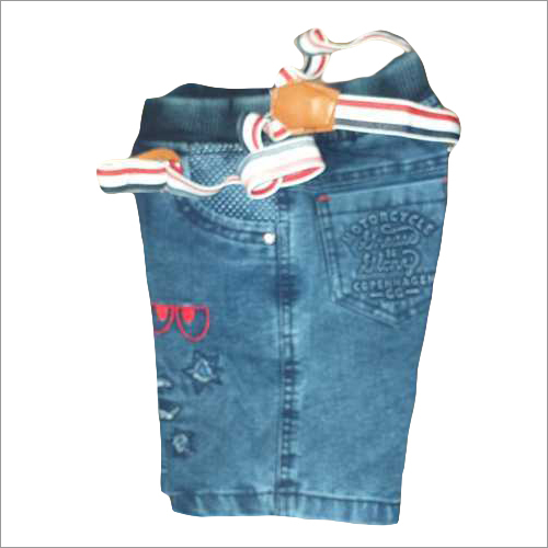 Kids Denim Shorts And Nicker