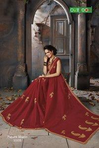 Pure cotton designer saree