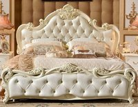Teakwood royal white double bed