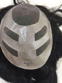 Hair Patch Toupee Replacement Unit for Men