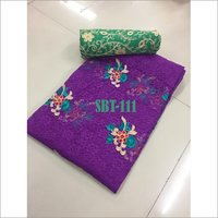 Russel Net with Flower Butta Embroidery Saree
