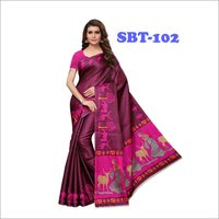 Beautiful Deer & Women's Printed Saree.