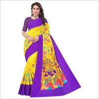 Beautiful Flower Printed Saree