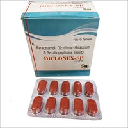 Paracetamol Diclofenac Potassium Serratiopeptidase Tablets