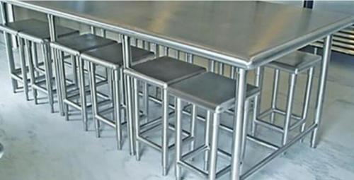 SS Stool Dining Table