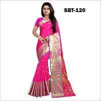 Cotton Silk Saree With Mango Design
