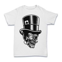 328ab1612148 Skull White Colour T Shirt