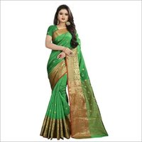 Beautiful Flower Design Cotton Silk Saree