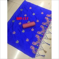 Beautiful Peacock Embroidery Work Saree
