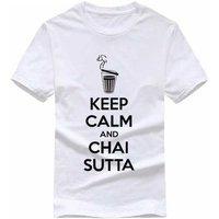 2cf85e46761c Keep Calm And Chai Sutta White Colour T Shirt