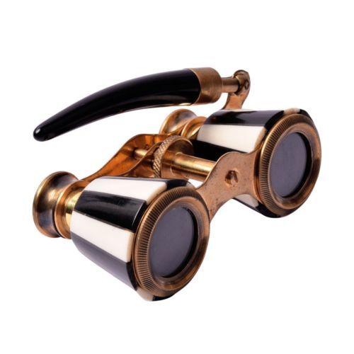 Brass Mother of Pearl Binocular