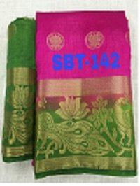 KANCHIVARAM FLOWER BUTTA SAREE