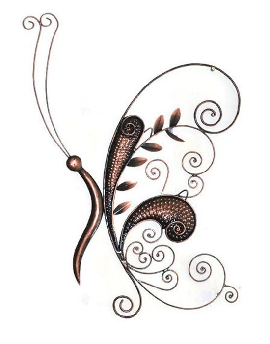 Decorative Butterfly Wall Decor Iron Hand Crafted Wall Hanging