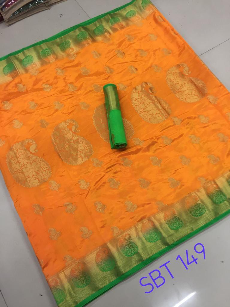 Mango Border Kanchivaram Rich Pallu Design SAREE