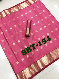 Cotton Silk Saree With Running Blouse Piece