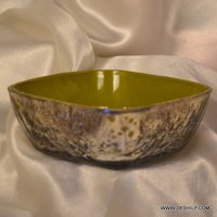 GLASS SILVER GLASS BOWL