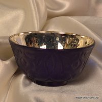COLORFUL GLASS SILVER BOWLS