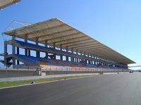 Stadium roofing shades
