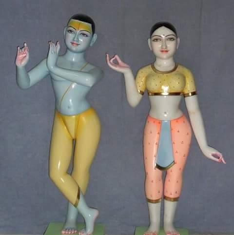 Marble  Iskon Radha Krishna Statue
