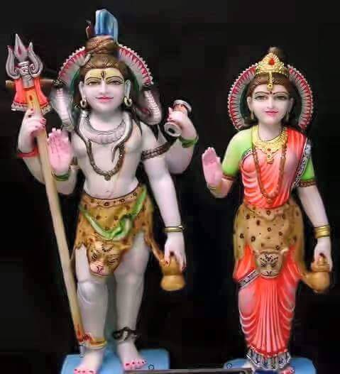 Marble Shiv Shakti Statue