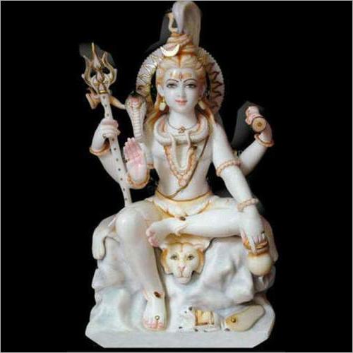 White Marble Shiva Statue