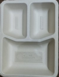 Sugarcane bagasse 3cp meal tray(3cp) Supplier, Distributor