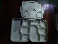Sugarcane bagasse 4cp meal tray