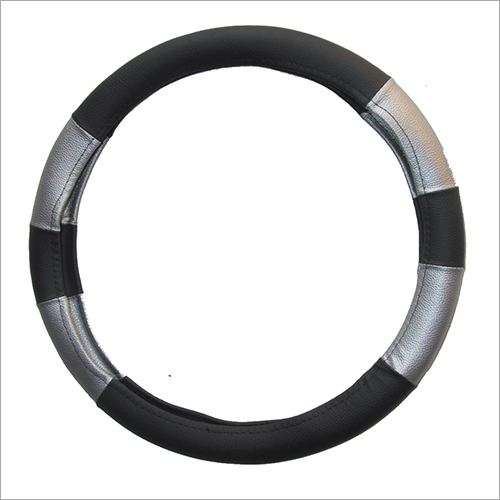 Black  Silver Steering Cover