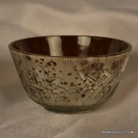 SILVER GLASS DINNER TABLE BOWL