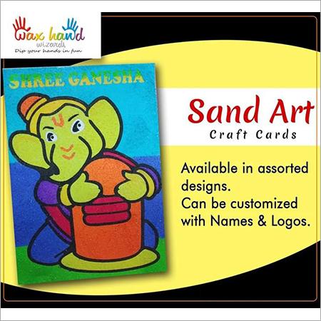Colorful Sand Art Card