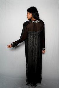 Ladies African Long Black Kaftan Dress