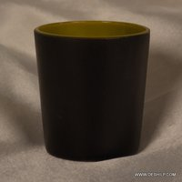 BLACK  COLOR GLASS CANDLE HOLDER