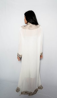 Ladies African Long White Kaftan Dress