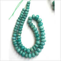 16 Inch  Amazonite Smooth Rondelle Beads Strands