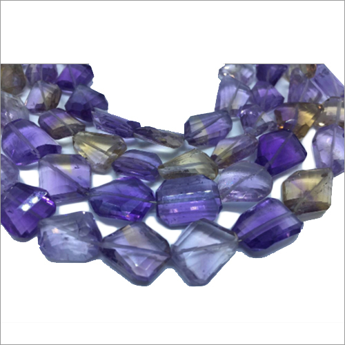 Ametrine Faceted Briolette Stone Nuggets