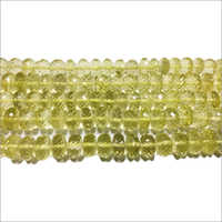 Lemon Quartz Rondelle Beads