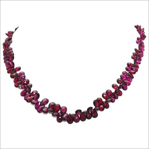 Garnet Rhodolite Badam Stone Beads