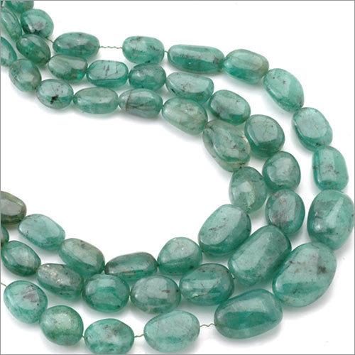 Emerald Tumbled Beads