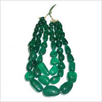 Hand Polished Green Onyx Tumble Beads