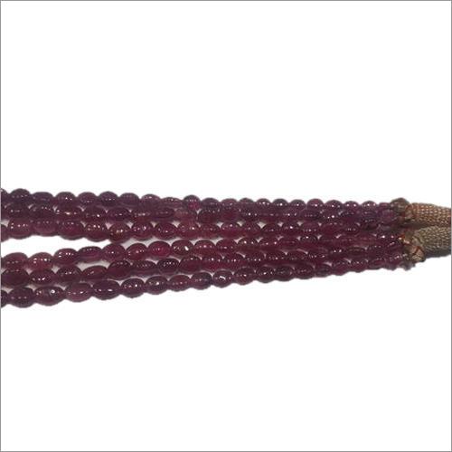 Pink Tourmaline Oval Stone Beads