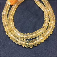 Citrine Rondelle Faceted Beads