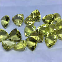 Lemon Topaz Trillion Briolette Cut Stone