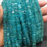 Sky Apatite Heishi Cut Square Shape Beads